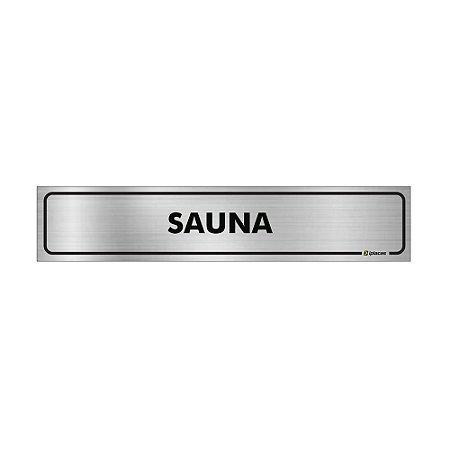 Placa Identificação - Sauna - Aluminio
