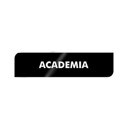 Placa Identificação - Academia - Acrilico