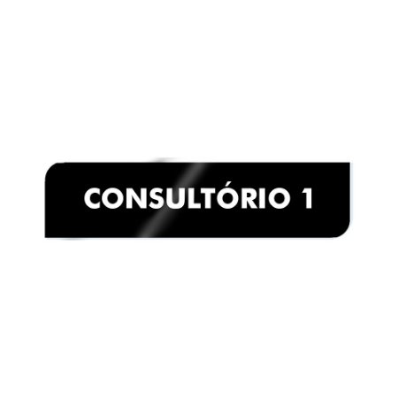 Placa Identificação - Consultório 1 - Acrilico
