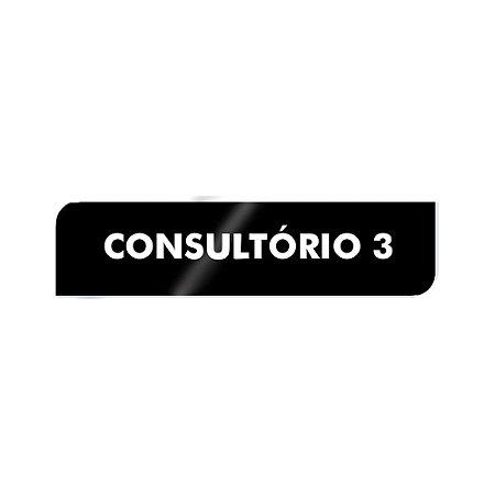 Placa Identificação - Consultório 3 - Acrilico