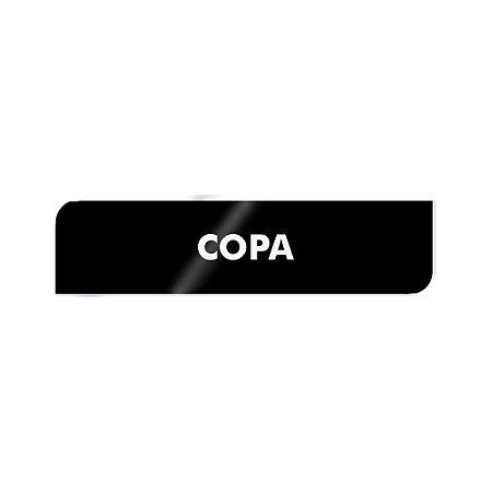 Placa Identificação - Copa - Acrilico
