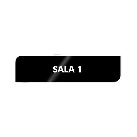 Placa Identificação - SALA 1 - Acrilico
