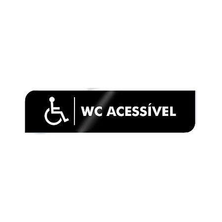 Placa Identificação - WC Acessível - Acrilico
