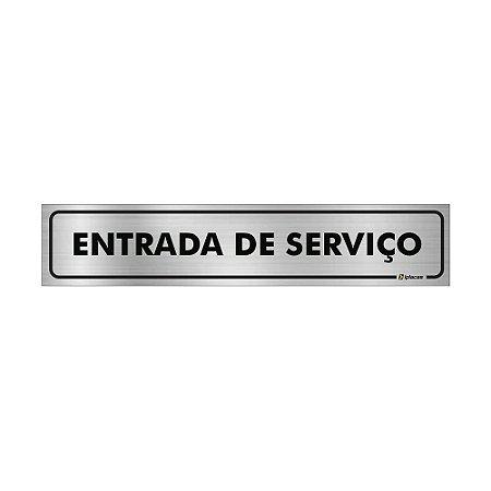 Placa Identificação - Elevador  Serviço - Aluminio