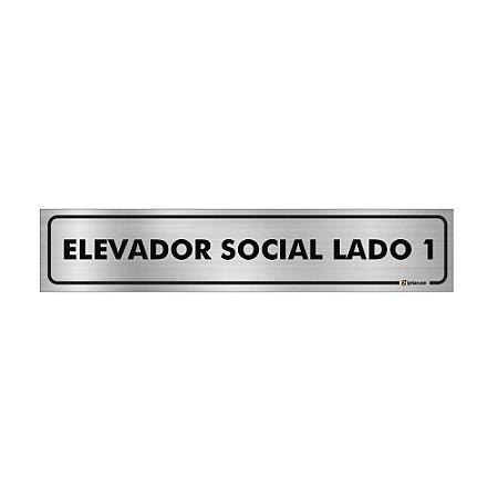 Placa Identificação - Elevador Social Lado 1- Aluminio