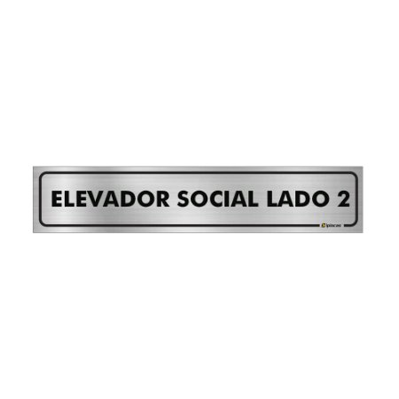 Placa Identificação - Elevador Social Lado 2- Aluminio