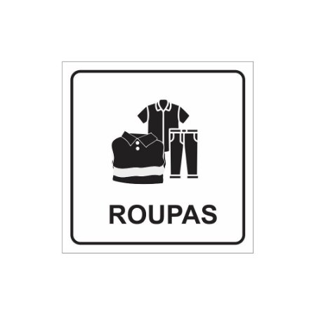 Placa ou Adesivo - Roupas