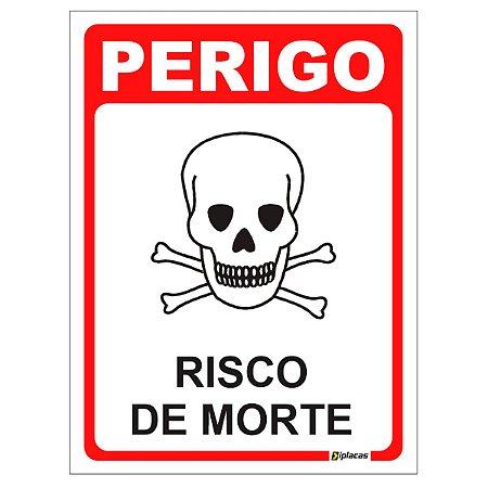 Placa - Perigo Risco de Morte