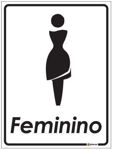 Placa de Banheiro - Feminino