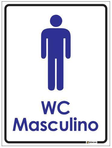 Placa de Banheiro - WC Masculino