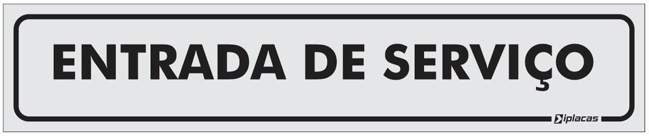 Placa Identificação Entrada de Serviço em PS 1mm