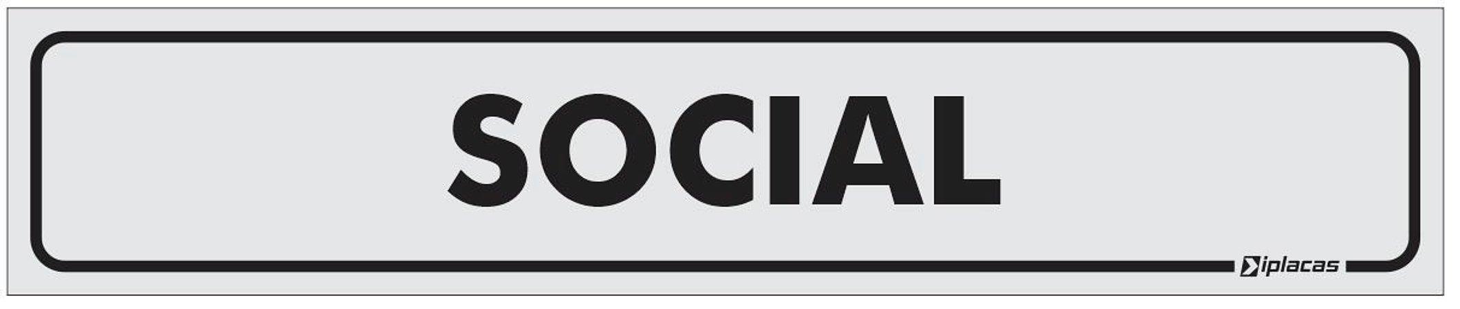 Placa Identificação Social em PS 1mm