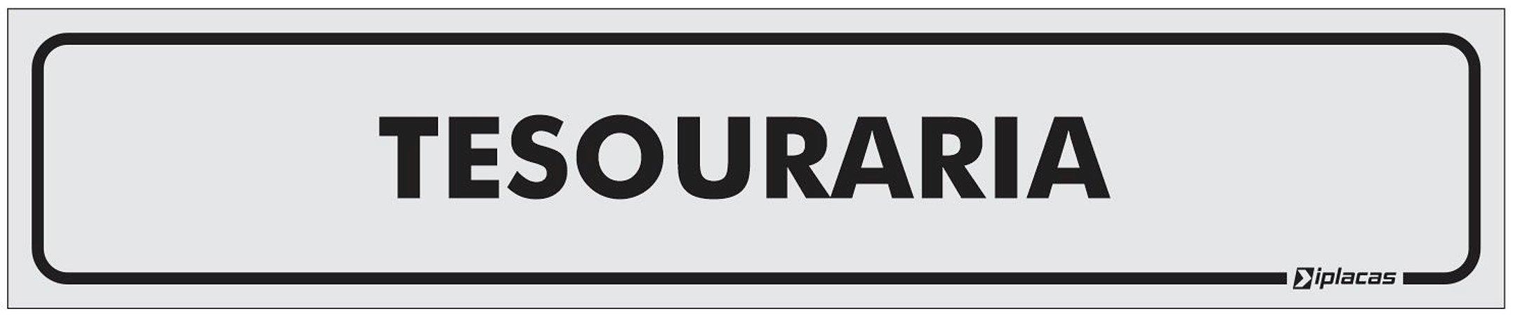 Placa Identificação Tesouraria em PS 1mm