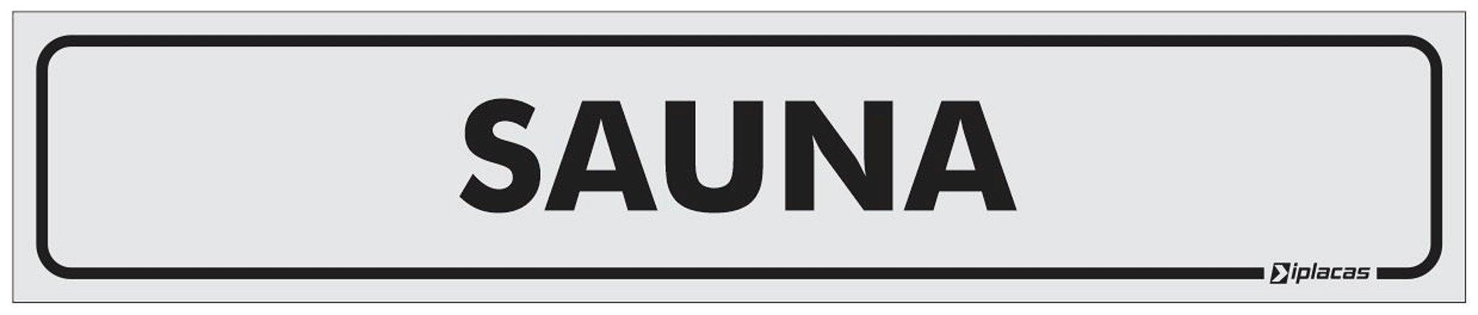Placa Identificação Sauna em PS 1mm