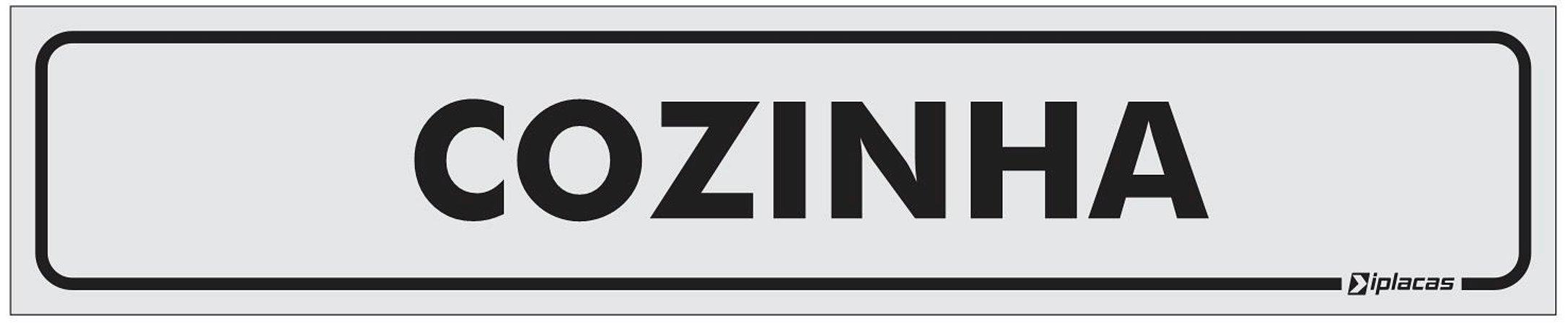 Placa Identificação Cozinha em PS 1mm