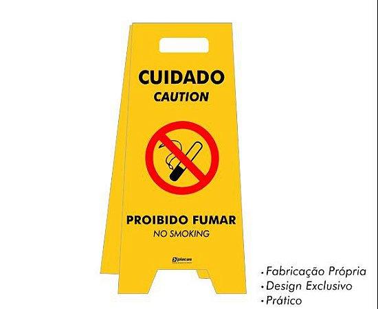 Placa tipo Cavalete em PS - Proibido Fumar