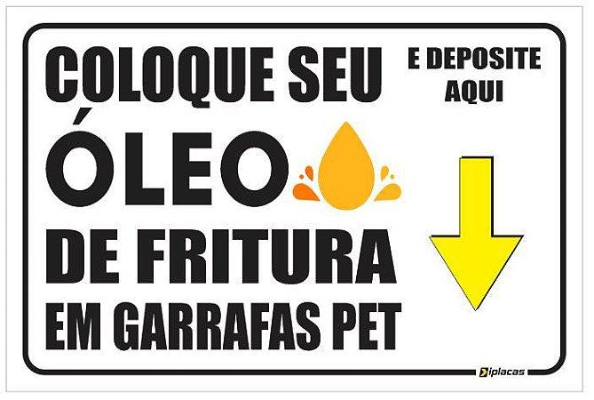 Placa de Sinalização - Coleta de óleo usado