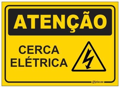 Placa Atenção - Cerca Elétrica