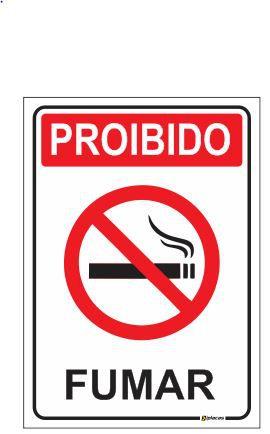 Placa - Proibido Fumar - Simples