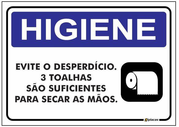 Placa Higiene - Toalheiro