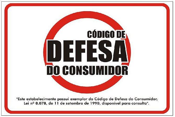 Placa - Código de Defesa do Consumidor