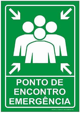 Placa - Ponto de Encontro - Emergência
