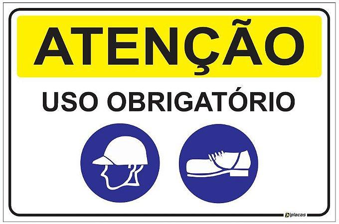 Placa Atenção - Uso Obrigatório