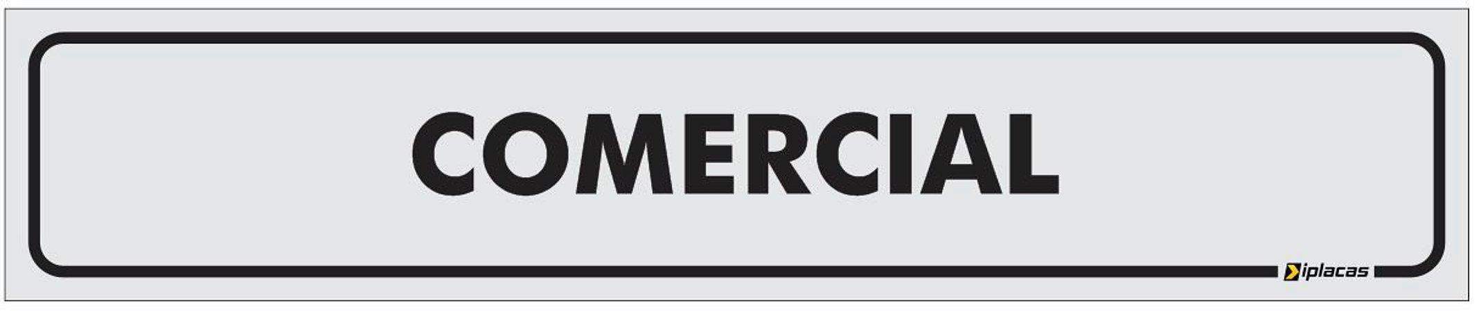 Placa Identificação - Comercial - 25x5cm