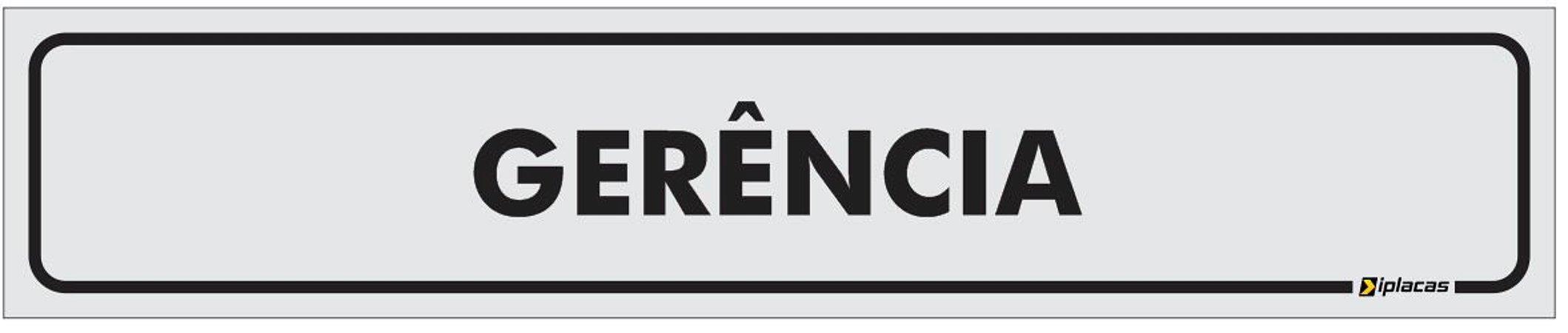 Placa Identificação - Gerência - 25x5cm