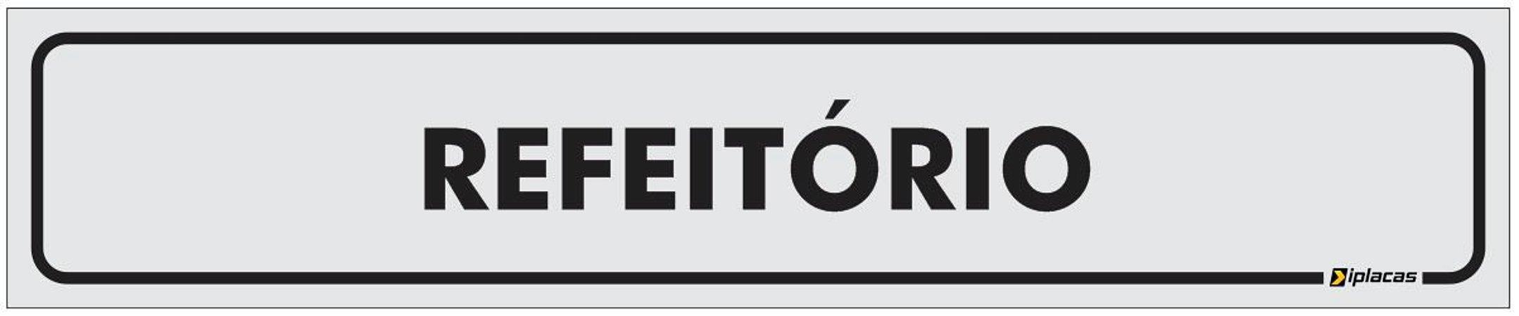 Placa Identificação - Refeitório - 25x5cm