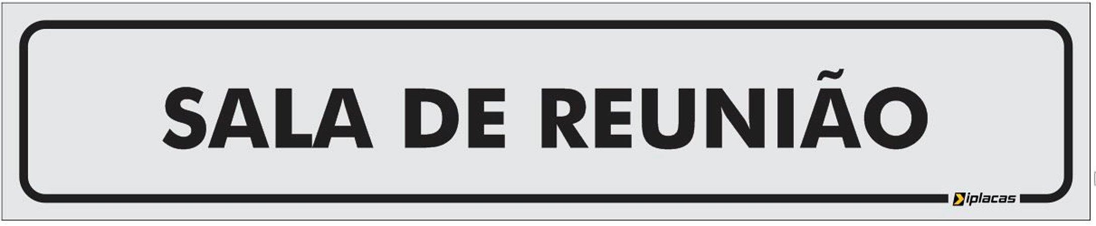 Placa Identificação - Sala de Reunião - 25x5cm