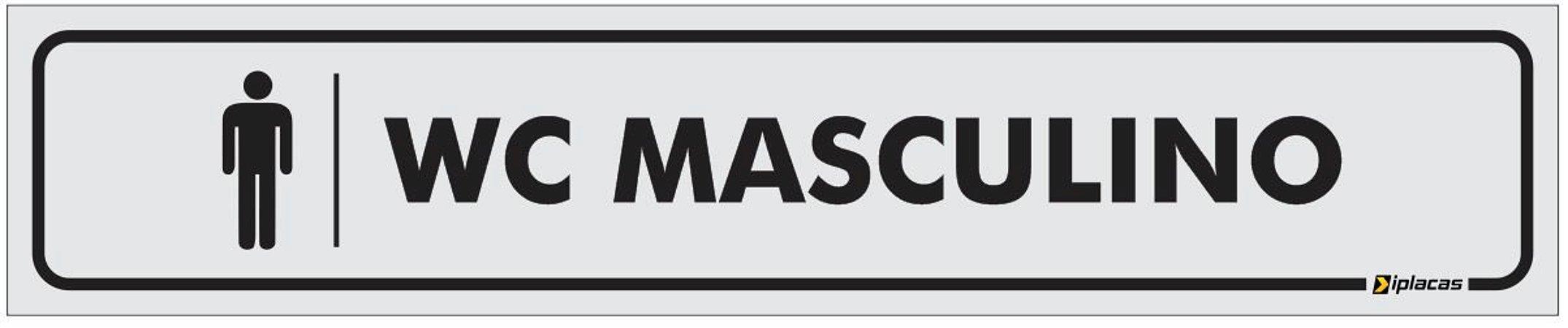 Placa Identificação - WC Masculino - 25x5cm
