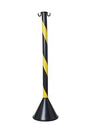 Pedestal Plástico Zebrado - Preto E Amarelo - 90cm