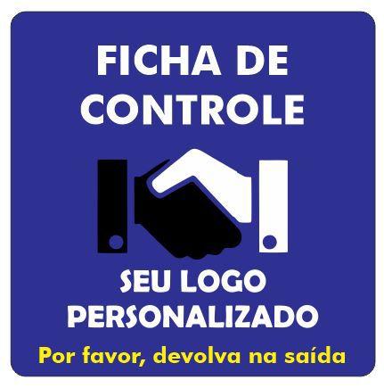Ficha de Controle de Clientes PVC 1mm - 10x10cm