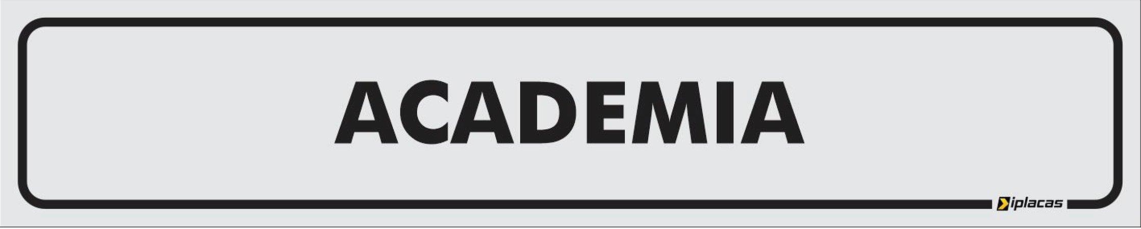 Placa - Identificação - Academia - 25x5cm