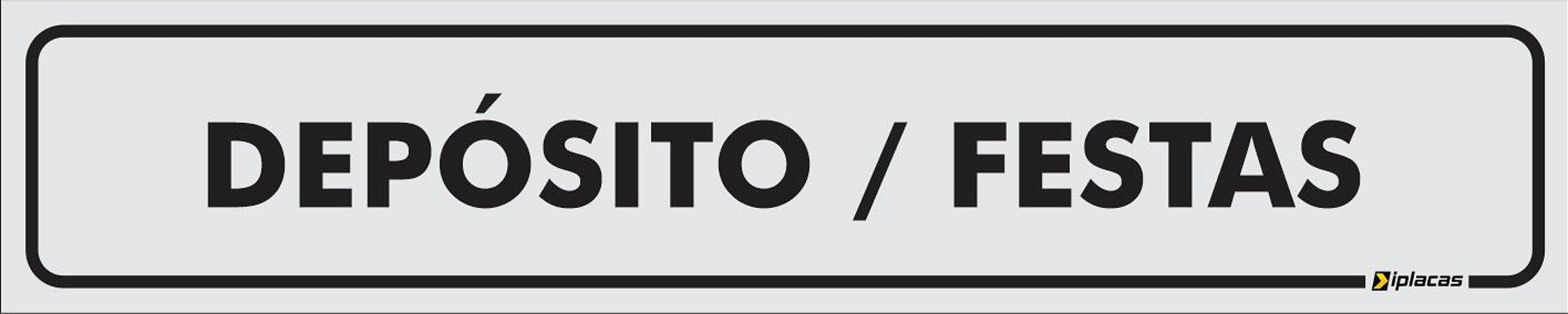 Placa - Identificação - Depósito - Festas - 25x5cm