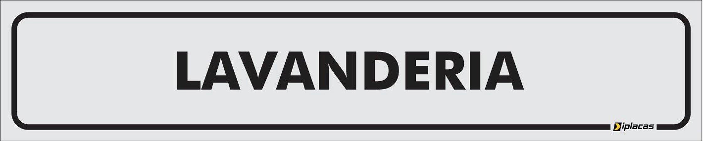 Placa - Identificação - Lavanderia - 25x5cm