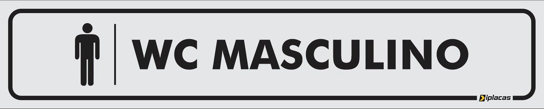 Placa - Identificação - WC Masculino  - 25x5cm