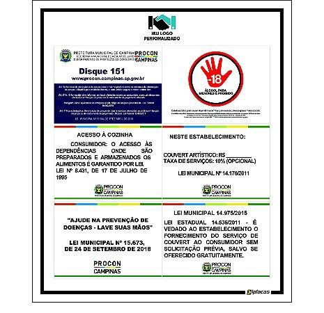 Placa - Painel - Leis e Normas Procon Campinas