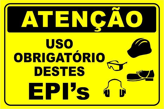 Etiqueta - Atenção - Uso Obrigatório destes EPI's