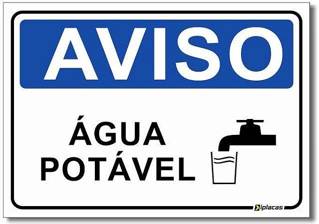 Aviso - Água Potável