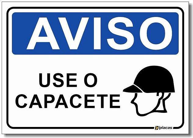 Aviso - Use o Capacete