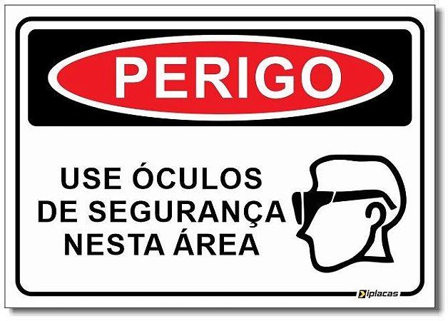 Perigo - Use Óculos de Segurança Nesta Área