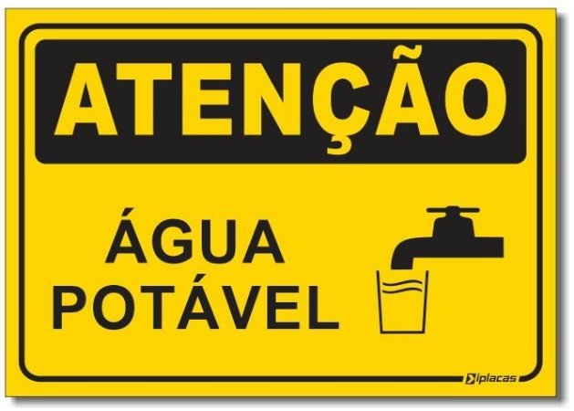 Placa Atenção - Água Potável