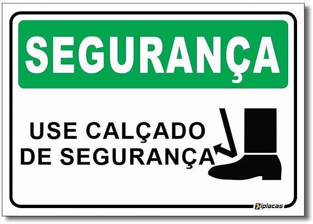 segurança - Use Calçado de Segurança