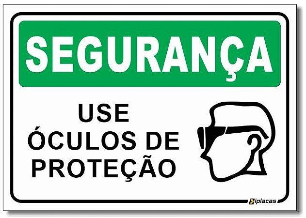 Segurança - Use Óculos de Proteção