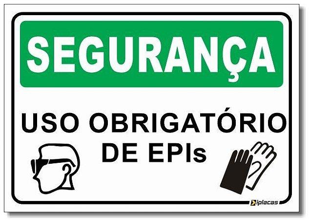 Segurança - Uso Obrigatório de EPI's