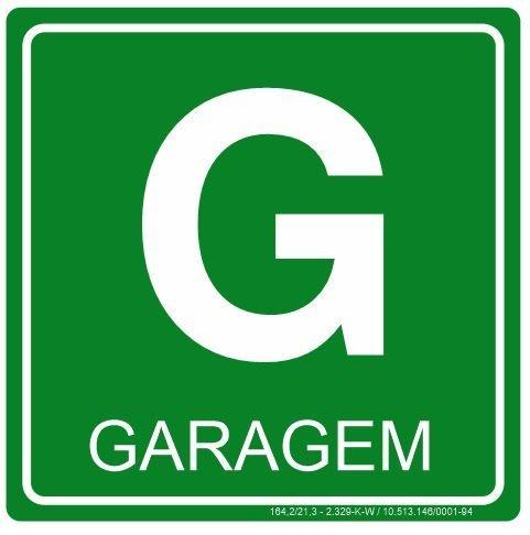 Placa Fotoluminescente - Pavimento - Garagem