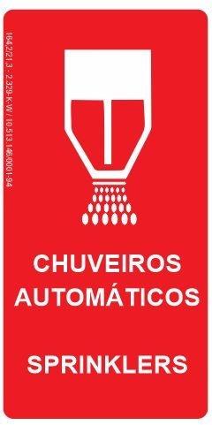 Placa Fotoluminescente - Chuveiros Automáticos (Sprinklers)