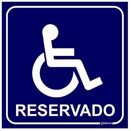 Placa Reservado para Deficientes